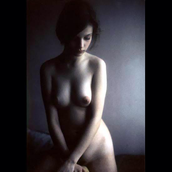 Awesome hot model posing naked for scandal men magazine