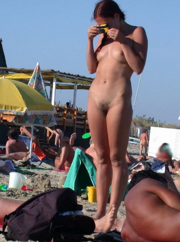 Wild sunny beach with nude cute babes caught while photo some naked asses