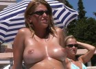 Tempting wife exposes her jugs to call your attention