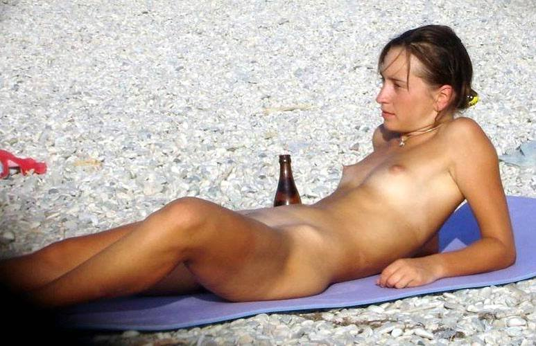 Cute naked student wants more liquor