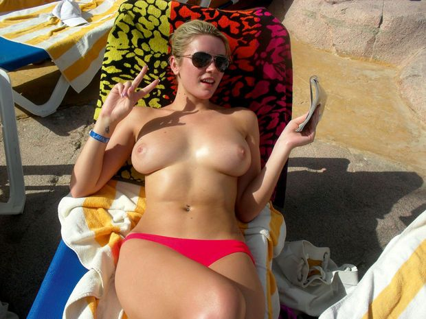 Pacifist blonde has huge tits
