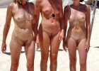 Hot naked ladies on the sunny beach