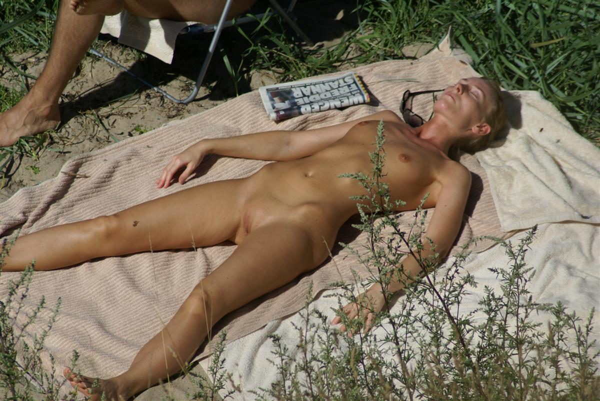Sleeping wife exposed nude in public