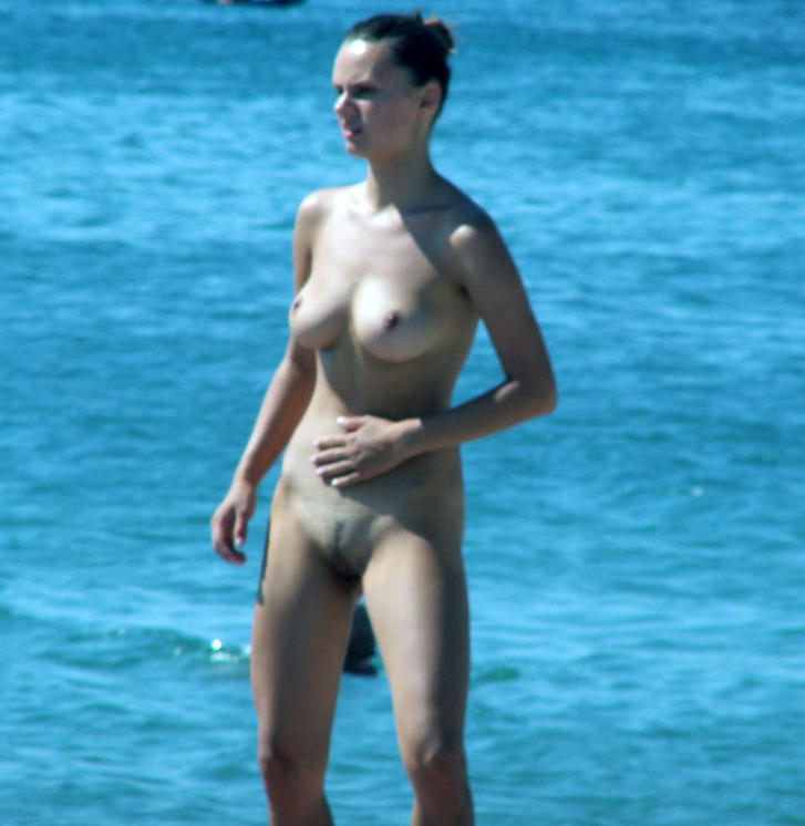 She was caught nude on the beach
