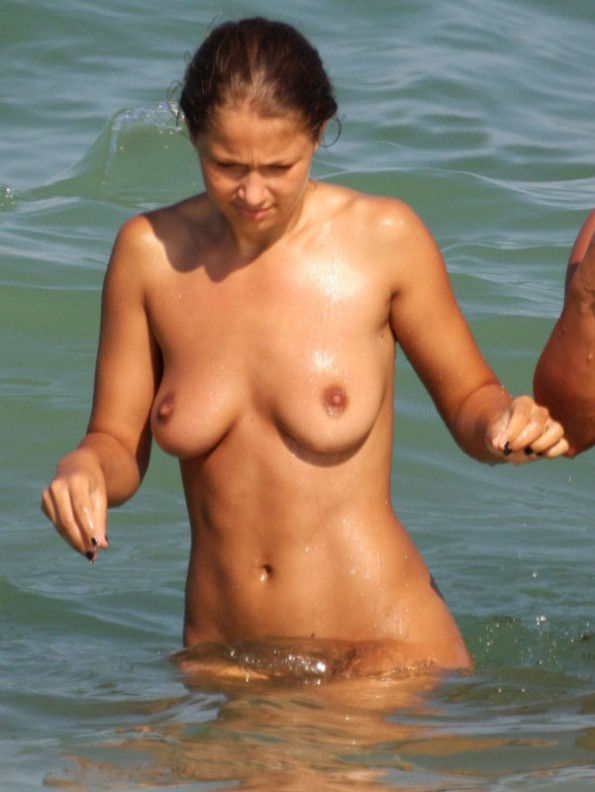She is wet and shy but loves nudist life