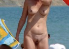 Cutie mature female with a little dark nice bush and a pair of sultry alluring bazooms