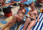 Pretty sunbathing models and gallant knockers show their pleasant manners on sight of camera