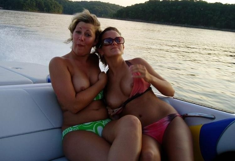Sinful mistress and hot momma getting hot and wild on a yacht caught on cam