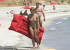 Attractive nudist youth just got out of the water