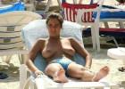 Sweet girl loves sunbathing best of all