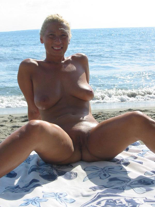 Blond babe is proud of what she owns