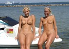 Blond milfs with perfect muffs and awesome tits