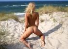 Nice view on sand beach