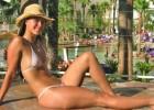 Hot bikini babe posing sexy and having fun